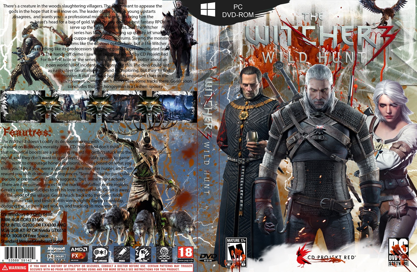 Capa The Witcher 3 Wild Hunt PC