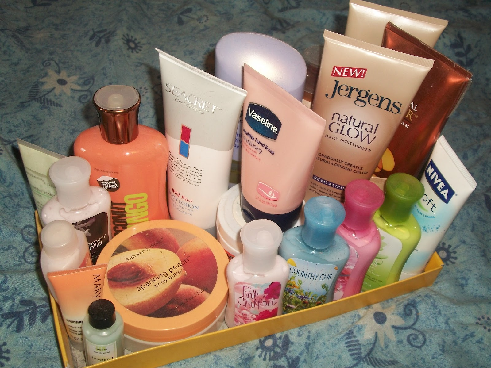How do you organize your lotion products?