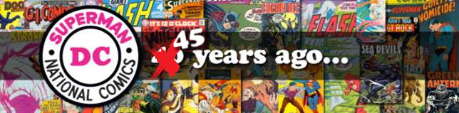 DC Comics 45 Years Ago