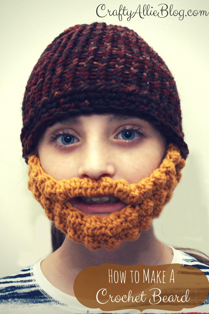 Crafty allie how to make a crochet beard how to make a crochet beard bankloansurffo Images