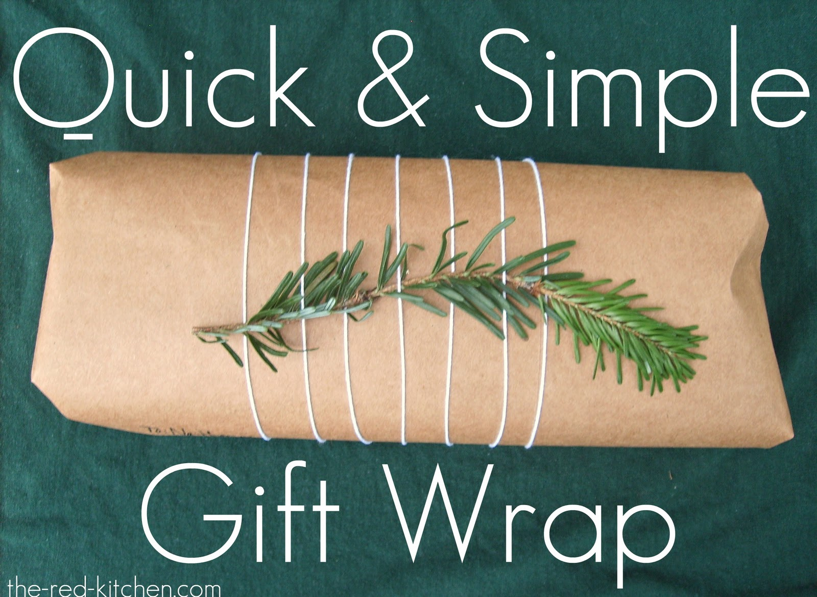 The red kitchen quick simple gift wrap ideas for Quick easy gift ideas
