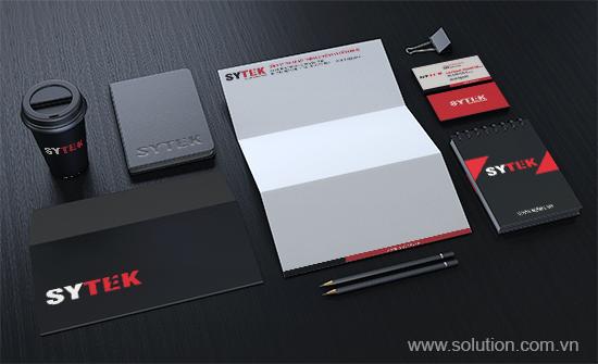 bộ nhận diện thương hiệu công sytek