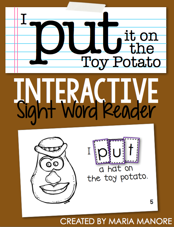 "emergent reader for sight word ""PUT"""