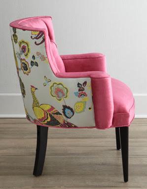 Pink, floral, beautiful chair, feminine