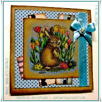 Digital Stamps - Easter Bunny, card by Jen