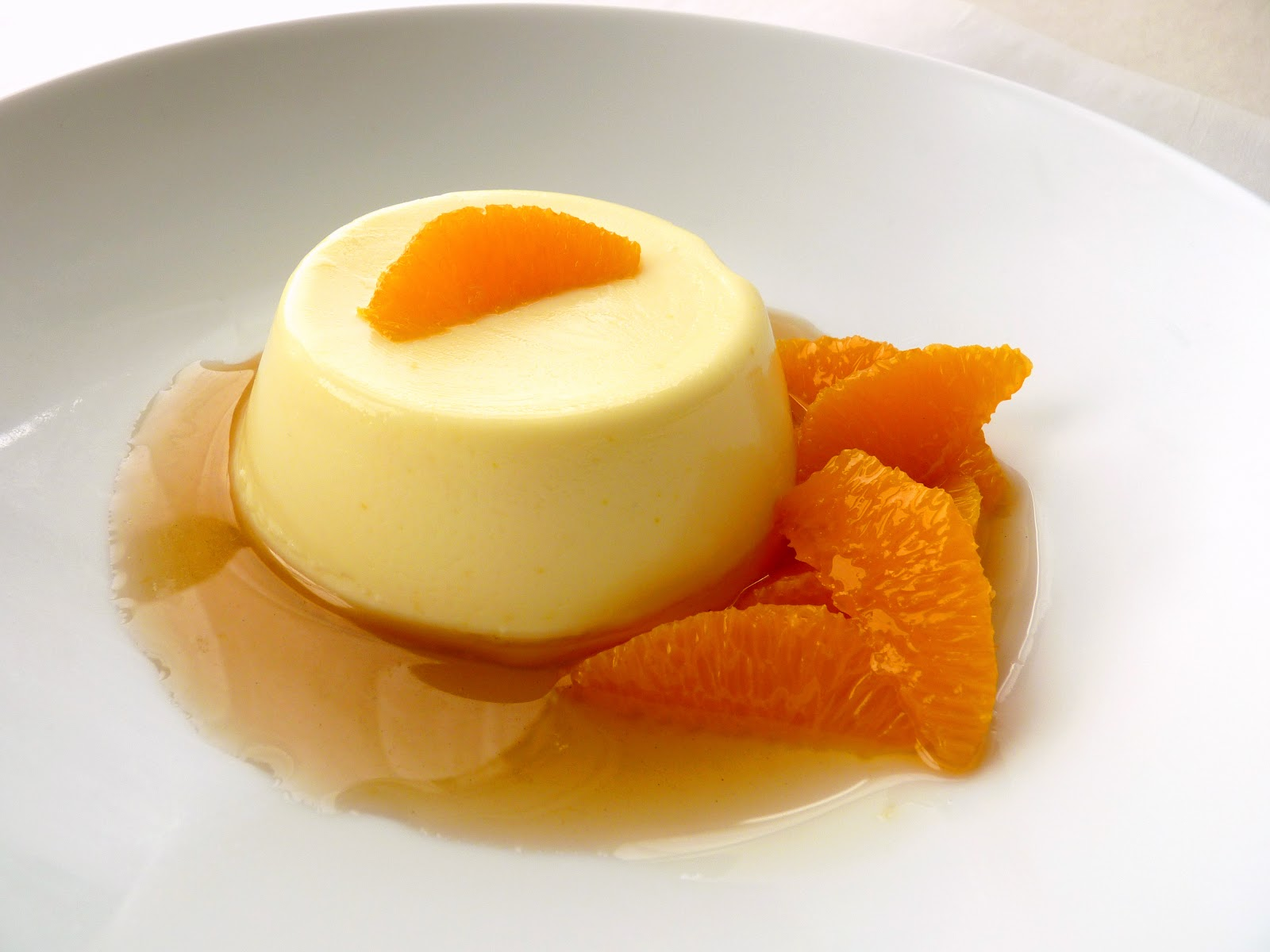 pastry studio: Orange Panna Cotta with Earl Grey Cardamom Sauce
