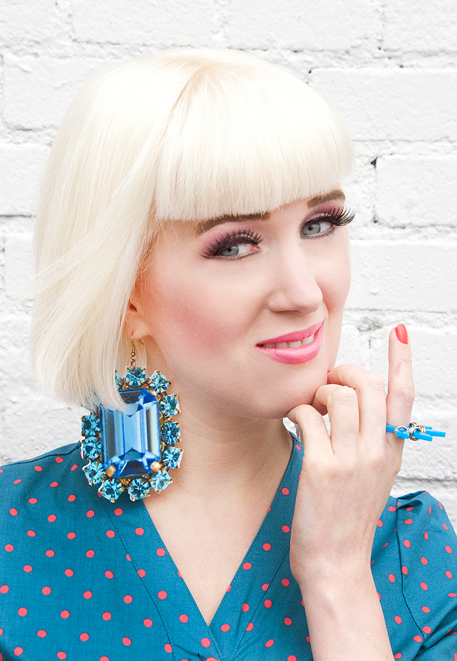 printed gems, statement earrings, tatty devine