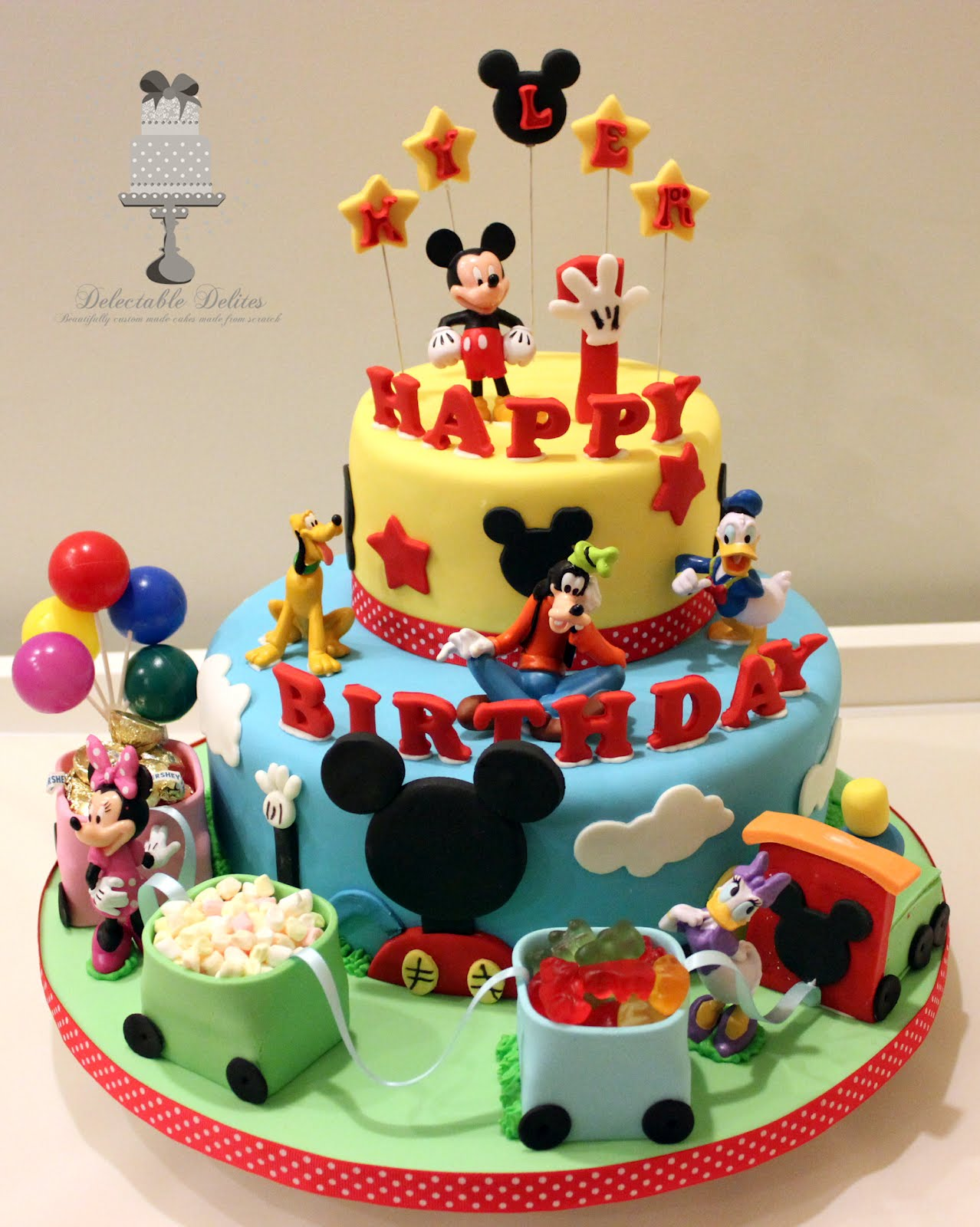 Delectable Delites Mickey Mouse Clubhouse With Train For Kylers