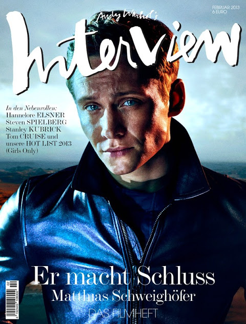 Matthias Schweighöfer by Sebastian Mader for February's Interview Germany
