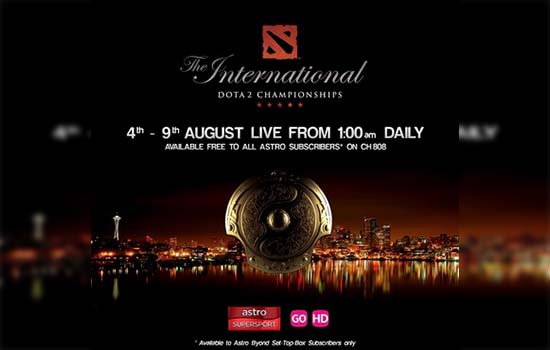 Siaran Langsung Kejohanan Dota 2 The International 2015