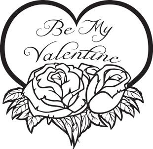 valentine's day coloring images