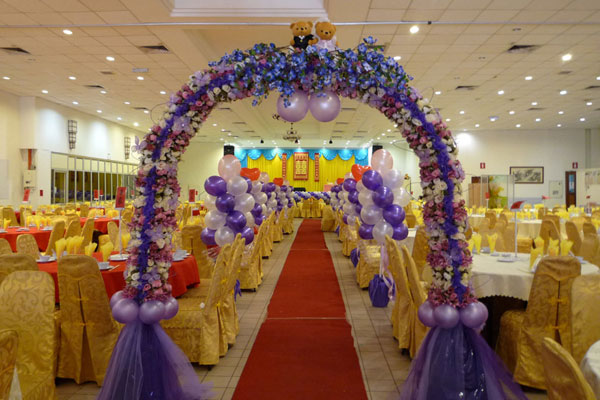 Wonderful wedding venue decoration theme ideas interior for Balloon decoration ideas for weddings