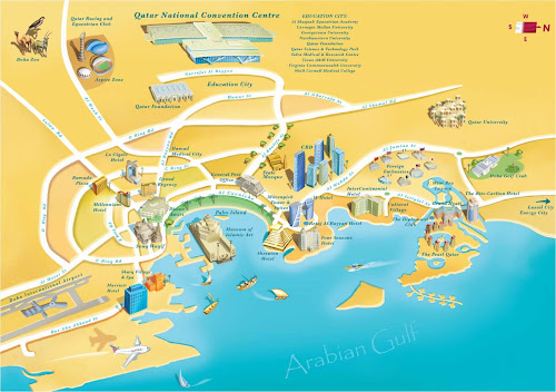 Doha turist map