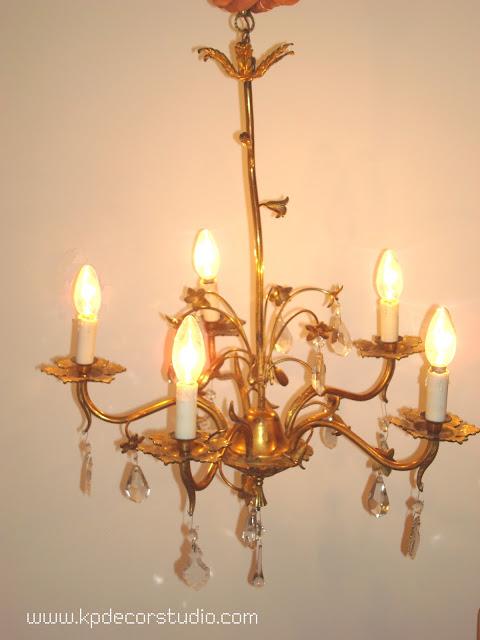 Comprar lámpara de lágrimas. Antigua. Antigüedades. Clásicas. Años 50. Chandelier.