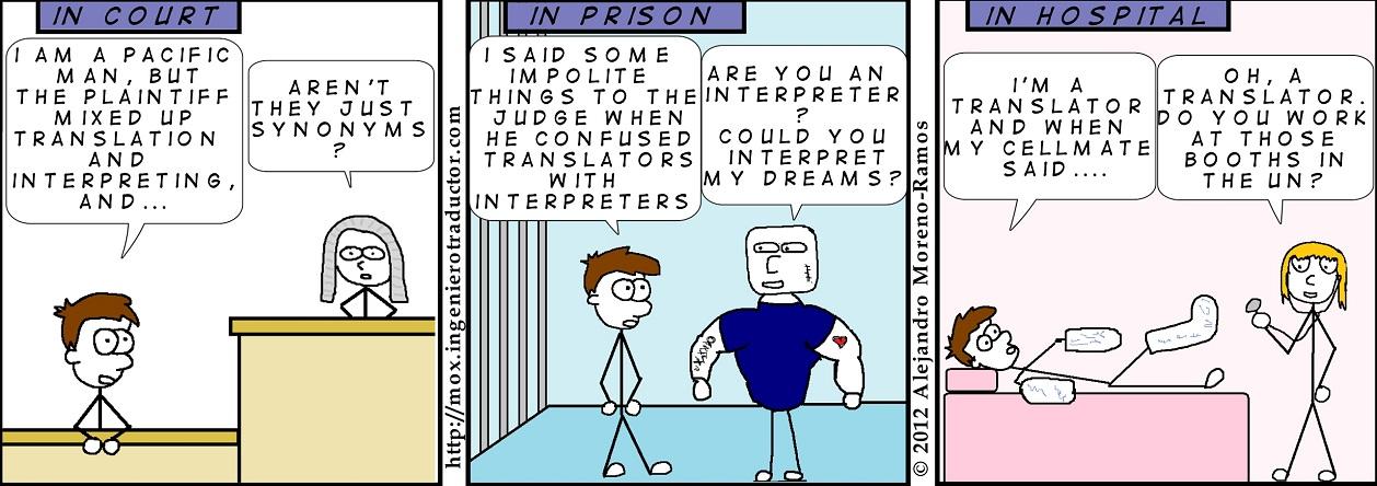 cartoon difference translation interpreting
