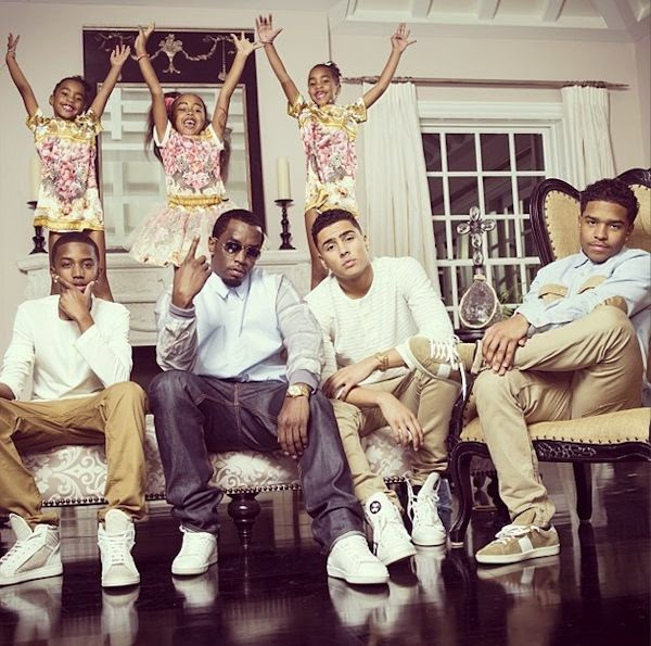 44 Year Old American Rapper P Diddy Marked Easter By Sharing This Family Portrait Of His Six Kids From Three Different Baby Mommas