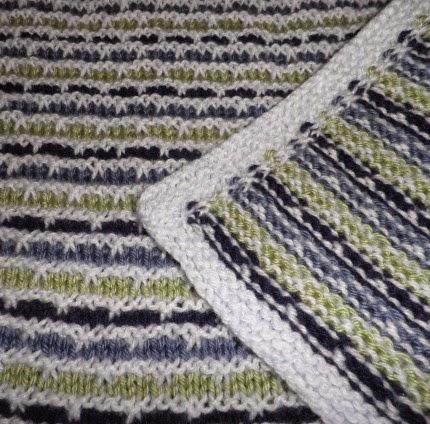 Eluma Striped Baby Blanket - Free Pattern