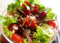 Salada Mista com Bardana (vegana)