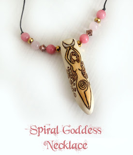 Spiral Goddess necklace from MoonsCrafts )0(