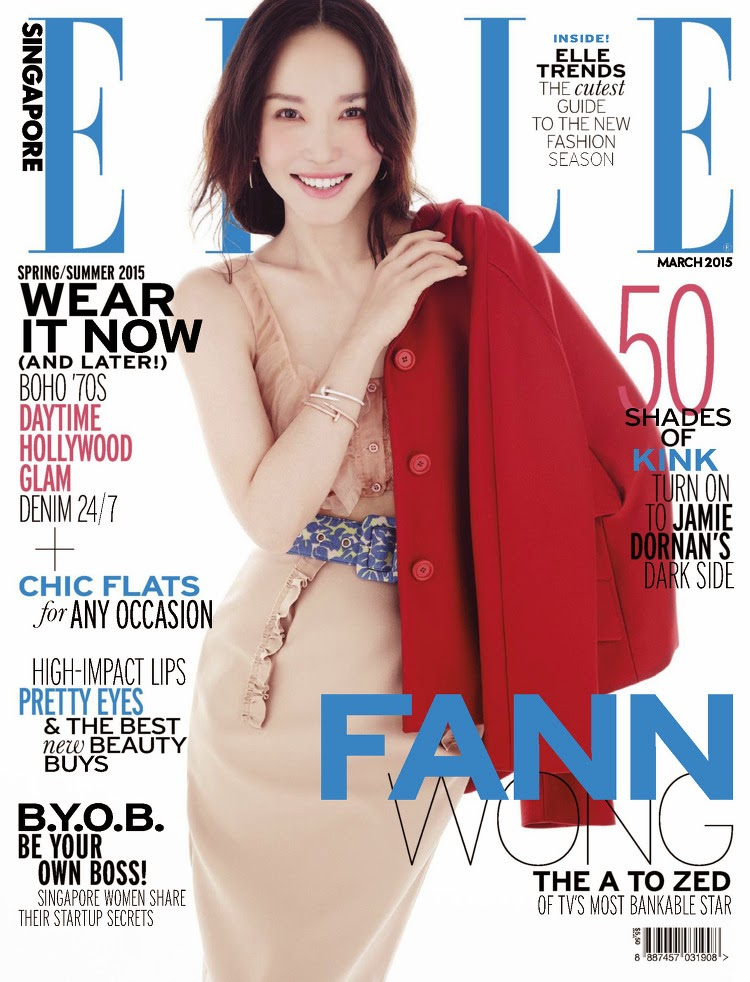 Actress, Singer, Model: Fann Wong, Fann Woon Fong for ELLE Singapore