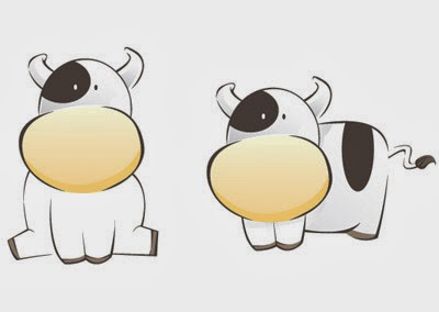cow, animation, cute, cartoon