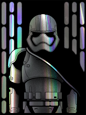 "Star Wars: The Force Awakens Captain Phasma ""Chrome Trooper"" Screen Print by Drew Wise"