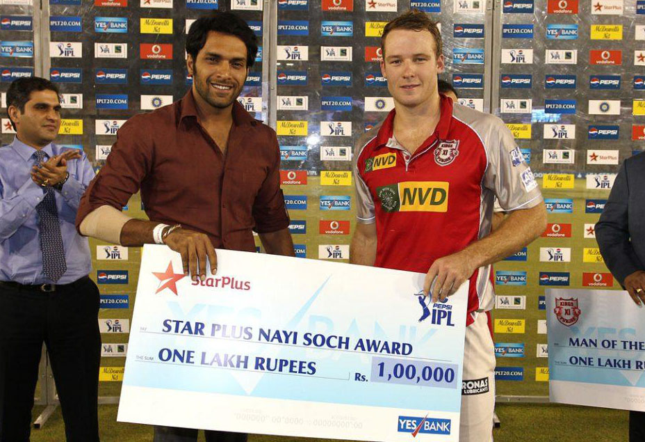 David-Miller-Star-Plus-Nayi-Soch-Award-KXIP-vs-RCB-IPL-2013