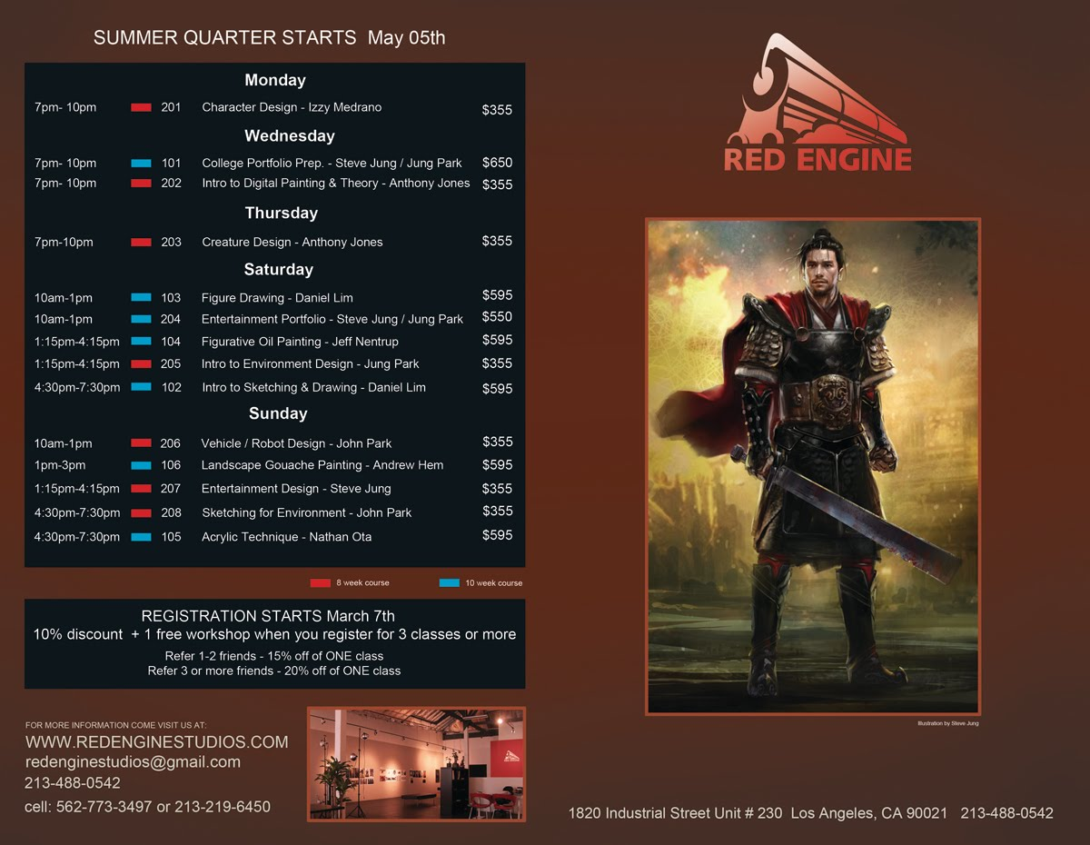New Winter 2011 Term Schedule for Red Engine Studios