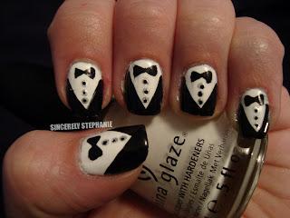 tuxedo-nail-art
