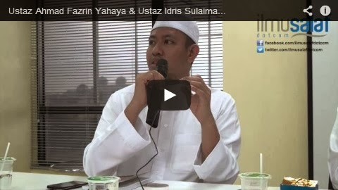 Ustaz Ahmad Fazrin Yahaya & Ustaz Idris Sulaiman – Anti-Hadith Kata Ahli Sunnah Mentuhankan Nabi