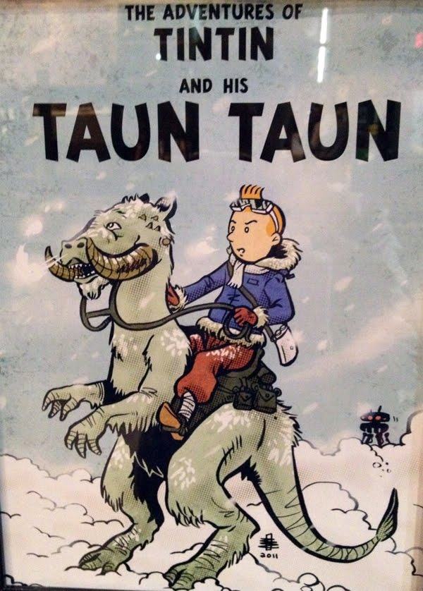 Popped Culture The Adventures Of Tintin And His Tauntaun