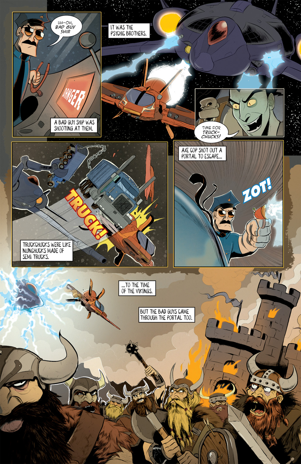 Read online Axe Cop: Bad Guy Earth comic -  Issue #2 - 9