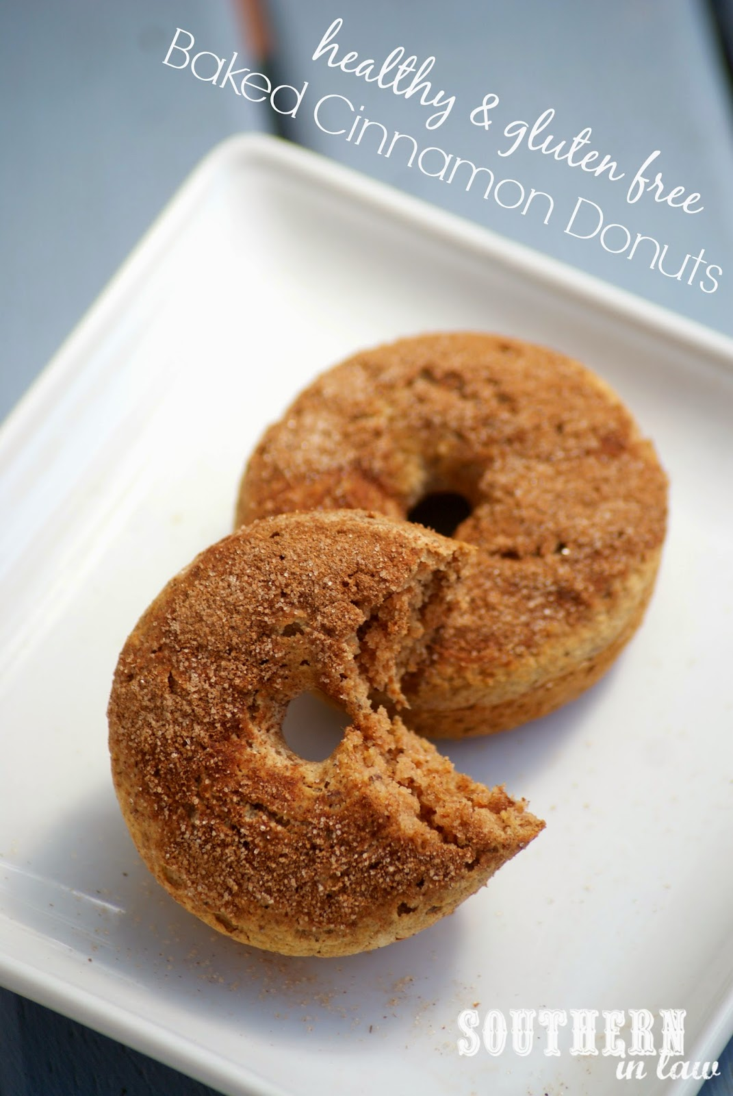 Vegan Baked Cinnamon Donuts Recipe - Gluten free, healthy, low fat, low sugar, egg free, dairy free