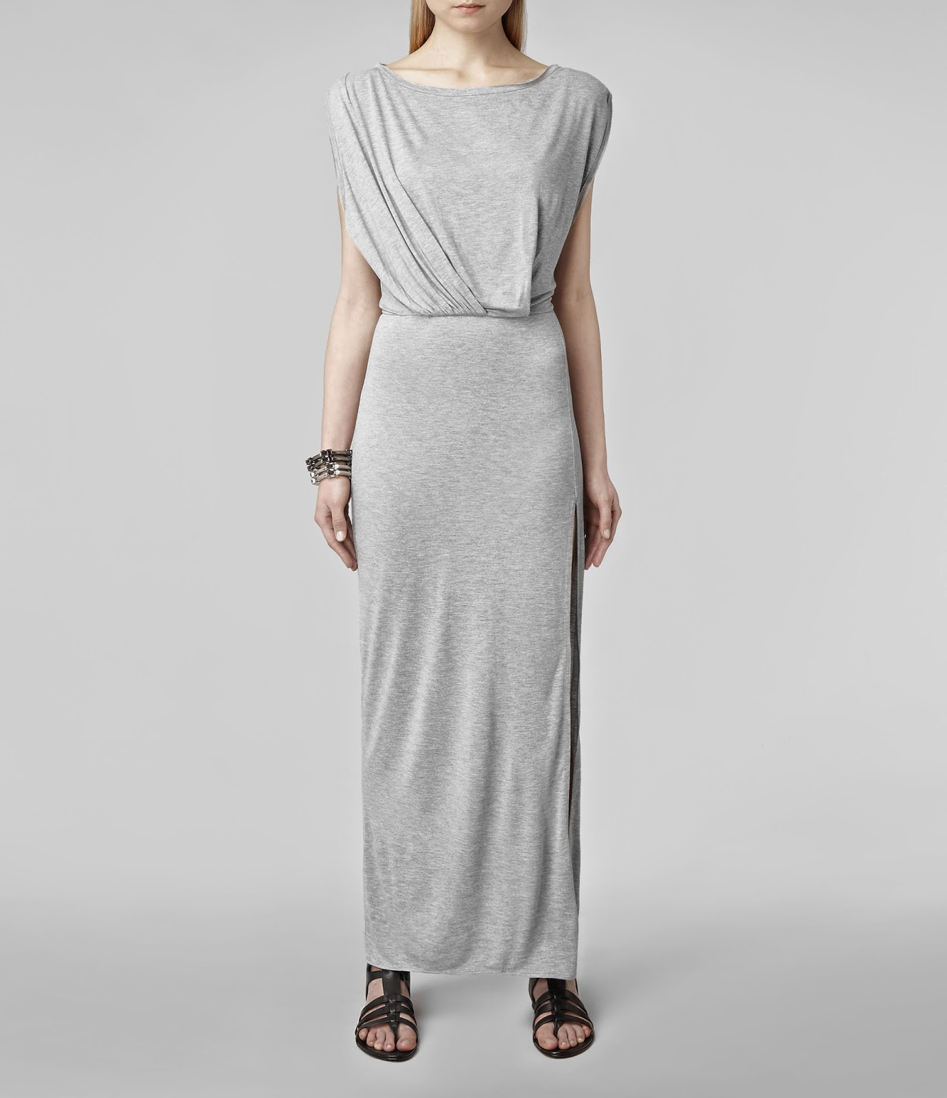all saints grey dress