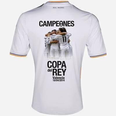 camiseta Real Madrid Campeones Copa del Rey 2014