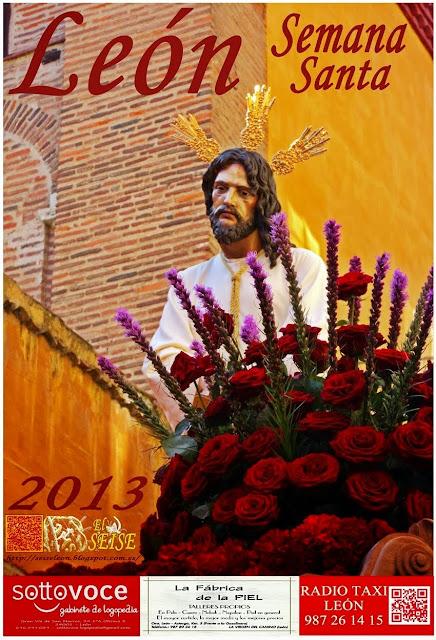 """Cartel de la Semana Santa de León 2013 del blog, """"EL SEISE"""". Autor G. Márquez."""