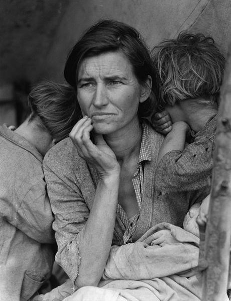 Madre migrante, foto de Dorothea Lange.