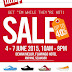 4 - 7 June 2015 Fitflop Sale