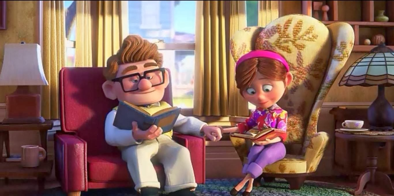 Carl And Ellie Wedding Drawing