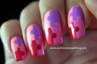 Jigsaw Nail Art Tutorial