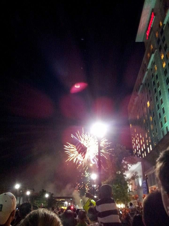 Fireworks in Raleigh, N.C.
