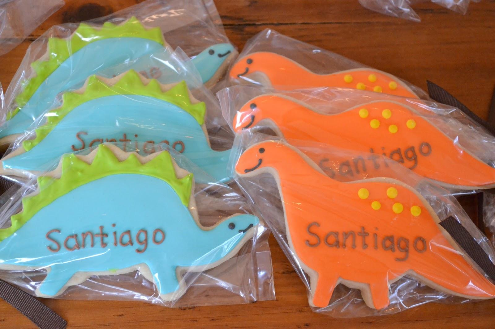jackandy cookies dinosaur baby shower favors