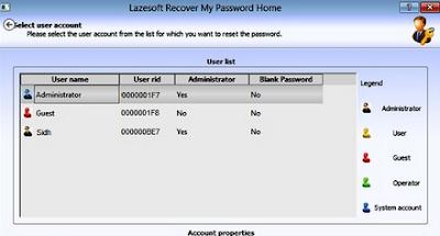recupero password