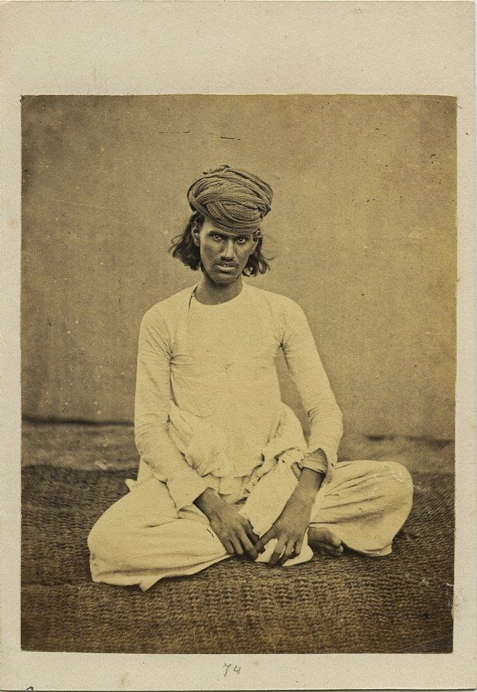 Indian Man Wearing A Turban - c1870's