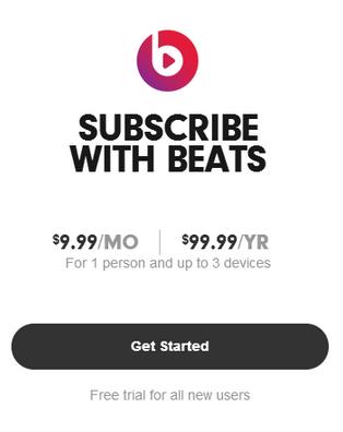 New Beats Audio pricing