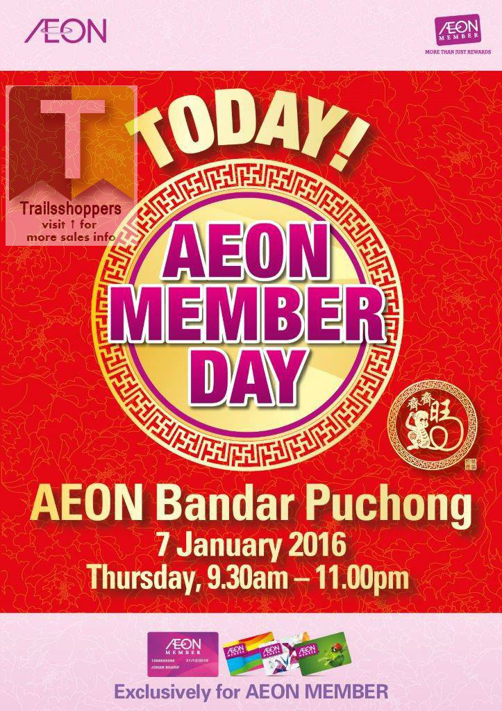 AEON Member Day Bandar Puchong
