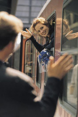 7 Disadvantages of Long Distance Relationships - Problems - woman say goodbye to a man on train travel