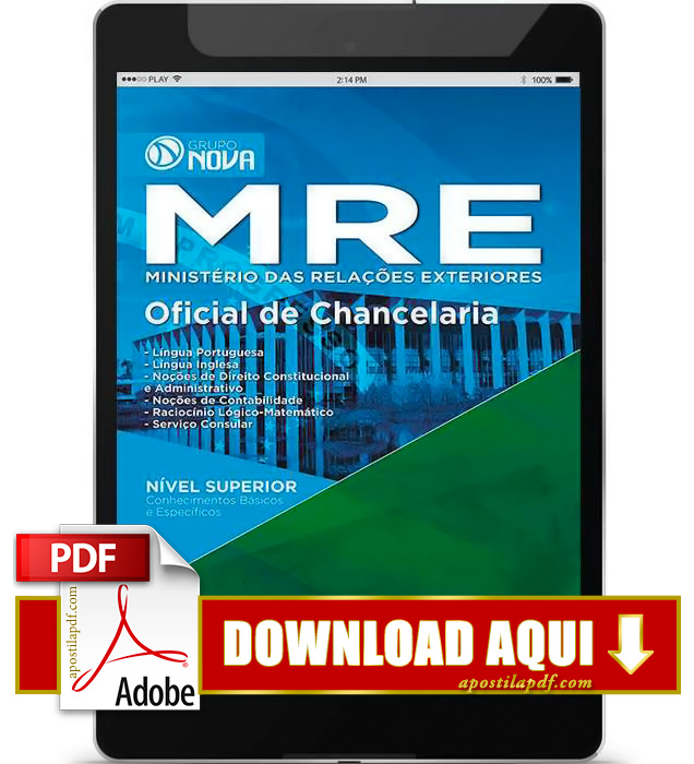 Apostila MRE Oficial de Chancelaria 2015 PDF Download