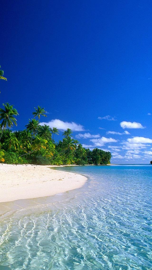 南国の島のビーチ