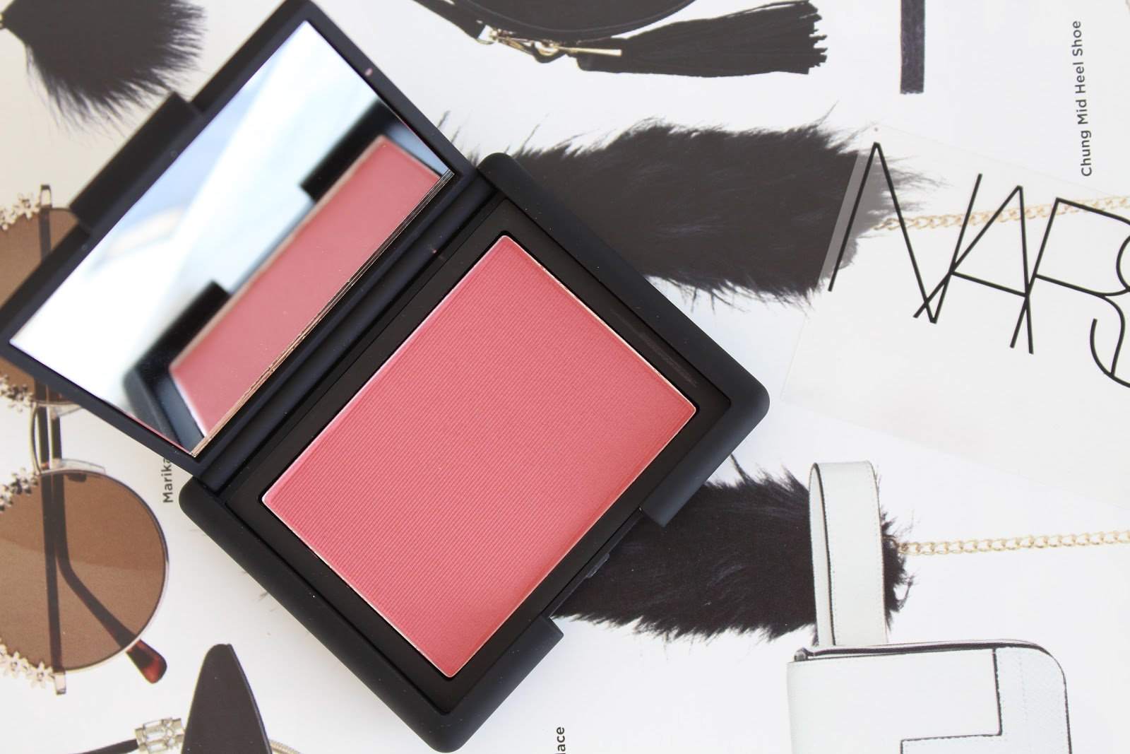 NARS Amour blusher swatches and review